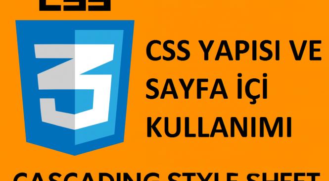 Css Yapısı ve Sayfa İçi Kullanma